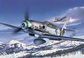 Revell 1/32 Messerschmitt Bf109 G6 German WW2 Fighter Kit 04665Length 284mm Number of Parts 182 Wingspan 310mm