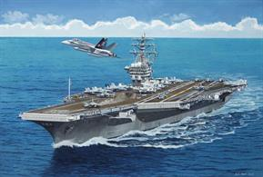 Revell 1/1200 USS Nimitz CVN 68 Nuclear Powered Aircraft Carrier Kit 05814Glue and paints are required
