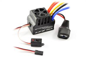 ETRONIX PHOTON 2.1FW 45AMP FULL WATERPROOF BRUSHLESS ESC With systems available ranging from 45A through to 120A there is something within the Photon range for every 1/10th application.With the additional programmable set up card (ET0107) the user can finely tune ten different parameters within the ESC to suit their particular needs. (available separately)