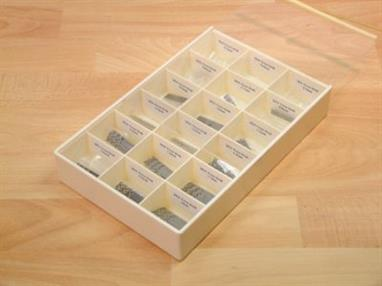 The 18 different sizes included are 0.3 to 2mm in 0.1mm increments.Set contains 10 of each size