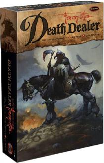 From the master of fantasy art, the Death Dealer.  Universally known, Death Dealer has been seen on everything from album covers to II Corps mascot to comics, games and a host of products.  Now you can build it yourself!  Kit comes complete in styrene with metal chains and a base.