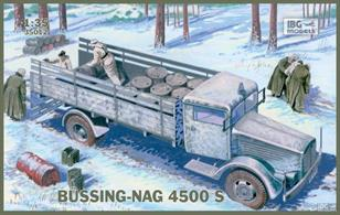 IBG Models 35012  1/35 Scale Bussing-Nag 4500 S TruckThis kit builds into a nicely detailed model. Comprehensive assembly and finishing instructions are included.Glue and paints are required to assemble and complete the model (not included)