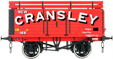 Dapol Lionheart Trains LHT-F-073-003 O Gauge Cransley Coke 7 Plank Open Wagon with coke rails.A detailed ready to run O gauge 7 plank open wagon model from Lionheart Trains tooling finished as a wagon operated by the Cransley Coke company and fitted with coke extension rails to increase the volume which of the lower-density coke which could be carried.