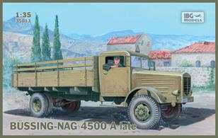 IBG Models 35013 1/35 Scale Bussing-Nag 4500 A Late Model TruckThis comprehensive kit includes full assembly and finishing instructions.Glue and paints are required