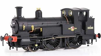 Highly detailed model of the LSWR Beattie designed 2-4-0 well tank locomotives, well known for their work on the Wenford Bridge branch serving the china clay industry in Cornwall.Model finished as British Railways 30586 in black livery with later lion and wheel crest.