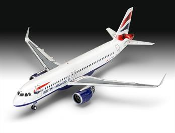 Revell 03840 1/144th Airbus A320neo British Airways Airliner KitGlue and paints are required