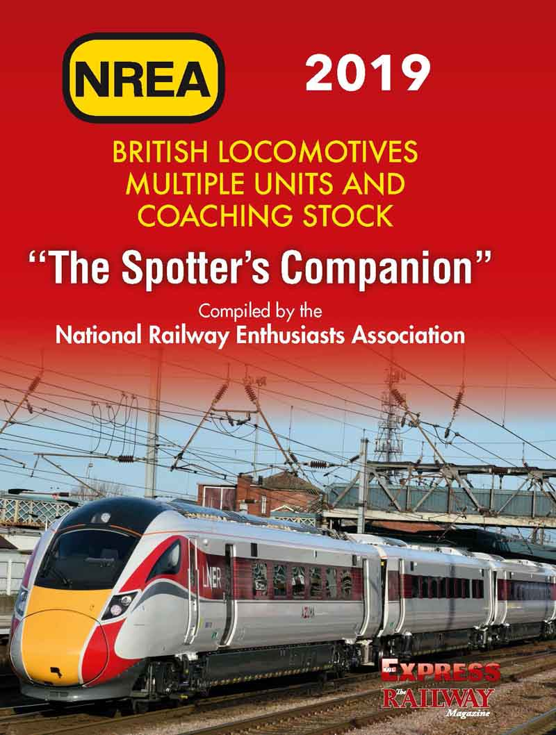 <p><strong>Recommended as an enthusiasts' travelling companion and record book.<br /></strong>The NREA Spotters Companion is a thin, A6 size book which can be easily and comfortably carried in a jacket pocket while still containing a full listing of all locomotives, coaches and unit trains registered with Network Rail in early 2019.</p>