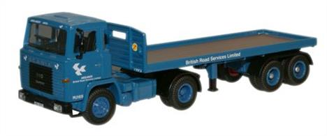 Oxford Diecast 1/76 Scania 110 Flatbed British Road Services 76SC110001