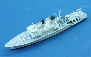 Atlantics readymade and painted model of the RN Hunt class minesweeper.