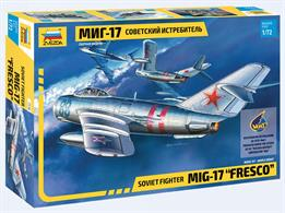 Zvezda 7318 1/72nd Russian Mig-17 Fresco Jet Fighter KitNumber of Parts 49    Length 154mm