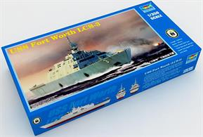 Trumpeter 1/350 USS Fort Worth LCS-3 Modern US Warship Plastic Kit 04553Number of parts 470Model Length 371.5mmGlue and paints are required