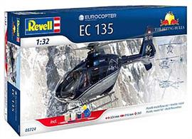 "Revell 1/32 EC135 ""Flying Bulls"" Model Set 05724Comes with Glue and Paints"