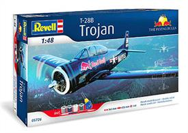 Revell 1/48 T-28 Trojan Flying Bulls Gift Set 05726Comes with Glue and Paints