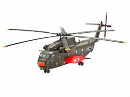 Revell 1/144 Sikorsky CH-53G Heavy Transport Helicopter Kit 04858Length 150mm Number of Parts 66 Rotor Diamter 148mmGlue and paints are required to assemble and complete the model (not included)
