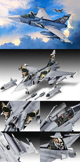 Revell 1/72 Saab JAS 39C GripenMulti Role Combat Aircraft Kit 04999Length 202mm Number of Parts 110 Wingspan 127mmGlue and paints are required