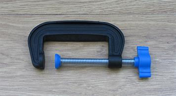75mm (just under 3in) jaw plastic G clamp