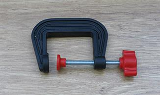 50mm (just under 2in) jaw plastic G clamp