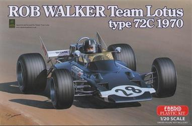 EBBRO E002 1/20 Rob Walker Team Lotus 72cA nicely detailed model of the Lotus 72c can be built from this kit. Full instructions are included.