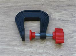 25mm (approx 1in) jaw plastic G clamp