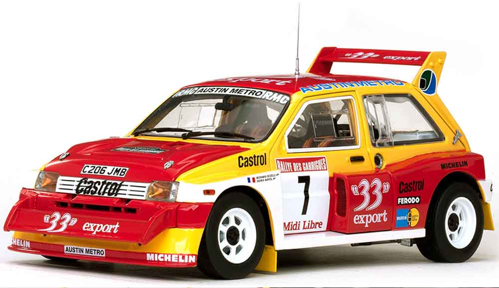 Sunstar 1/18th 5532 1/18th scale diecast model of MG Metro 6R4 33 Expert No.7 D.Auriol B.Occelli<br>