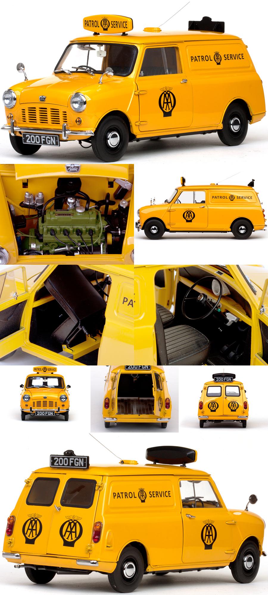 f4b027beac Sunstar Chrono 1963 Austin Mini AA Patrol Service Van 1 12 5318