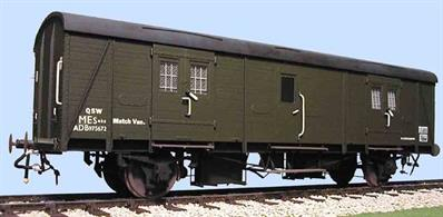 Developed from the South Eastern & Chatham 4 wheel passenger luggage van the BY vans were equipped with a central hand brake and guards' compartment for use on parcels trains.Supplied with metal wheels, screw couplings and sprung buffers