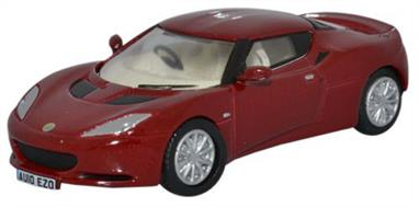 Oxford Diecast 1/76 Lotus Evora Canyon Red/Oyster 76LEV001