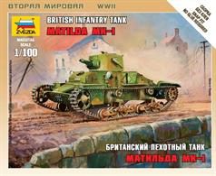 Zvezda 1/100 British Light Tank Matilda Mk1 6191
