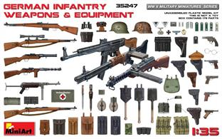 pack of 179 German weapons and equipment for 1/35th scale military models
