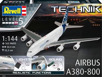 Revell 00453 1/144 Scale Technik Airbus A380-800 Airliner