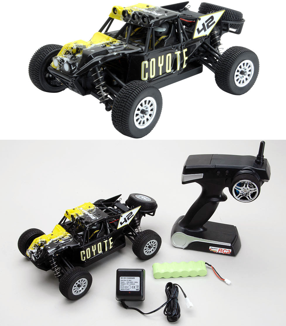 "Ripmax 1/18 Coyote 4WD Off Road Desert Buggy RTR RMX0050<br><b>More zip for your pounds!</b> - <span class=""yui-non""> t</span>he high power/weight ratio 1/18th scale allows top performance!<br><br>"