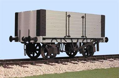 A detailed model kit building a Gloucester RCW 7 plank height wagon built to the RCH 1887 specifications. This kit has fixed ends and side doors, typical of the type used by local coal merchants who did not need an end door. The 7 plank body would contain 12 tons of coal and featured continuous or solid top planks, making the body much stronger. These wagons were usually painted in attractive advertising liveries with their owners names and business.Supplied complete with wheels, 3 link couplings and sprung buffers.