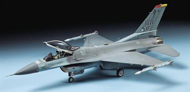 Tamiya's 60786 1/72nd scale plastic kit of the Lockheed Martin F16CJ Fighting Falcon.Glue and paints are required