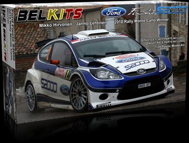 Belkits BEL-002 1/24th Ford Fiesta S2000 Rally CarA nicely detailed model of the Ford Fiesta S2000 rally car can be assembled from this kit.