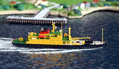 New model in 2013! Originally built in 1976, this ship's role in the fleet has now been taken over by the the SD Victoria also modelled by Rhenania Junior and in stock at Antics. The model is also available with the pennant number A367 on the hull (see RJ189A).