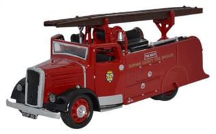 Oxford Diecast 1/76 Durham Dennis Light 4 Fire Engine 76DL4003
