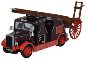 Oxford Diecast 1/76 Leyland Club FK7 Newcastle City Fire Brigade Fire Engine 76LC001