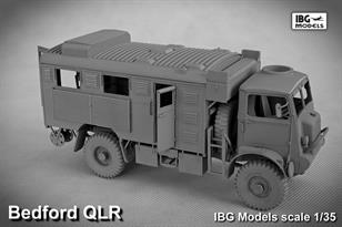 IBG Models35017 1/35 British WW2 Bedford QLR Wireless TruckA new plastic kit of the World War 2 Bedford QLR Wireless Truck. Detailed instructions are included.Glue and paints are required