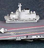 An excellent die-cast metal miniature flagship model from Albatros, this very impressive waterline model is now in available. Shenyang J-15 Flying Shark aircraft are available to purchase separately (product no. Alk-Z11, 54598) at additional cost. The first Chinese aircraft carrier, Liaoning commissioned into the People's Liberation Army Navy on 25th September 2012. This new/old ship was originally laid down in 1988 as a Admiral Kuznetsov class multirole aircraft carrier for the Soviet Navy but never completed. Purchased in 1998 by the People's Republic of China and towed to Dalian Shipyard in north eastern China, the ship was completely rebuilt and underwent sea trials, before commissioning into the PLAN.In December 2013 the carrier is reported to have narrowly missed colliding with the USS Cowpens in the South China Sea, as tension mounts over China's announcement of an air defense zone.