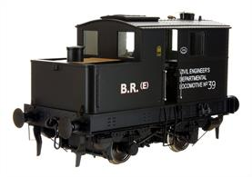 British Railways engineering department 39 was one of the 2-speed LNER class Y3 locomotives which in high gear could be used as travelling shunting engines hauling a few wagons.Finished in the last LNER black livery with the BR number applied after 1948.
