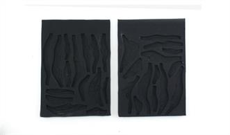 "Use these molds to cast the rocks to line the edges a creek, river, etc. Molds are flexible and reusable. Set of 2 different molds - 5"" x 7"" (12.7 cm x 17.7 cm) each"