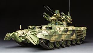 "Meng TS-010 1/35 Scale  Russian ""Terminator"" Fire Support Combat Vehicle BMPT with KMT-8 Mine Clearing System and EMT Electromagnetic Countermine SystemDimensions - Length 246mm Width 105mm."