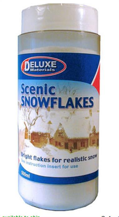 Deluxe Materials Scenic Snow Flakes DB25500ml canister.