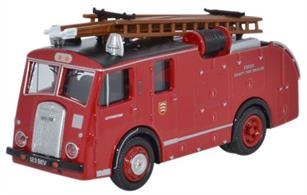 Oxford Diecast 1/76 Dennis F8 Essex Fire Brigade 76F8004