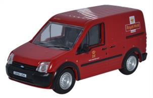 Oxford Diecast 1/76 Ford Transit Connect Royal Mail 76FTC001The Ford Motor Company boasts that every Transit is built for purpose and the smaller Ford Transit Connect is no exception with a large cargo capability lending itself to all sorts of commercial van users. Shaped by Ford kinetic design, the van has improved aerodynamics for greater fuel efficiency and high-tech lights for greater visibility. Component parts have also been designed for easy service and replacement.Here at Oxford we have replicated the Ford Transit throughout its evolution from the early 'box on wheels' to this latest streamlined body shape, which looks really good with its bold contemporary styling.  It is no surprise that in real life, it has sought favour with the Royal Mail as part of their delivery fleet and is therefore a natural choice of livery to launch our 1:76 scale model. Looking at the detail, our model is registered LD06 USX and painted in the signature Post Office red. The interior, chassis, window surrounds, grilles, bumpers, side trim, door handles and wheels are all black. The Royal Mail insignia appears on both sides and the cab doors of the van, as well as across the back. A modern touch sees the Royal Mail website address under the ER printing on the cab doors, also featuring across the back doors along with the 08457 telephone number.