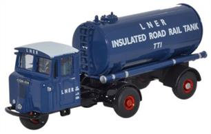 Oxford Diecast 1/76 Scammell Mechanical Horse Tanker LNER 76MH018