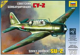 Zvezda 4805 1/48th Soviet SU-2 Bomber KitNumber of Parts 157  Length 218mm