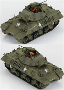 Hobby Master M10 US Tank Destroyer Pistol Packin Mama of US TD School, Texas, 1943<p>1/72 Scale</p><p>The M-10 was America's first tank destroyer built on a Sherman hull with a 76mm 50 caliber cannon. The cannon was so heavy a counter-weight had to be mounted on the rear of the turret. It had light angular armor and counted on speed and agility for survival. Extra armor could be bolted to the turret and hull. The turret had an open-top exposing the crew to enemy fire and the elements. The M-36 with its 90mm cannon eventually replaced the M-10.</p><p>The US M10 was the most produced US tank destroyer of WWII. The British M10s were called Achilles IIC because of the modification of the main gun from a 3 inch gun to a quick-firing British 17 Pounder. The conversions took place at the Royal Arsenal at Woolwich. The Mk. IC had a diesel engine while the Mk. IIC had a gasoline engine. Even the gun of the Mk. IIC was having difficulty against the heavy armor of the German Panthers and Tigers. Gradually the M36 Jackson with its heavier armor began to take over from the M10 and Achilles.</p>