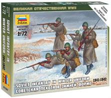 Zvezda 1/72 Soviet Infantry in Winter Uniform 6197