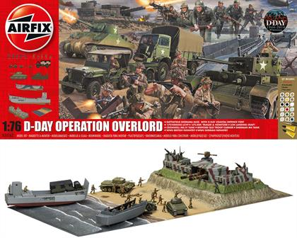 Airfix 1/76 D-Day Operation Overlord Giant World War 2 Gift Set A50162Number of Parts 410    Length 600mm    Width 340mm